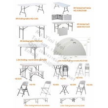 Plastic Folding Table and Chair for Outdoor Use, Garden