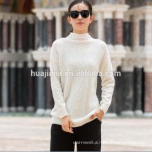 suéter branco de caxemira feminina