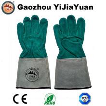 Luvas de soldadura de trabalho de couro com alta qualidade