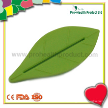 Espremedor distribuidor de pasta de dente de plástico em formato de folha (pH09-005)