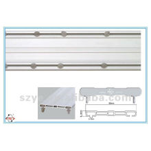 SDC02 plastic double window track PVC track plastic curtain rod