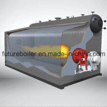 Caldeira a vapor a gás com tubo de água horizontal