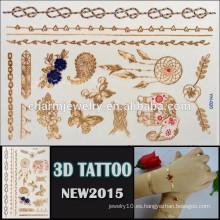 OEM diseño al por mayor oro tatuaje hermoso diseño para el cuerpo de alta calidad 3d tatoo etiqueta temporal YH 020