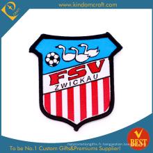 Patch de broderie de jeu de football de bandes verticales rouges faites sur commande (LN-0164)