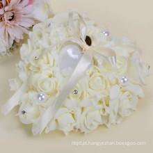 Decoração da festa de casamento alta qualidade belo travesseiro do anel de suporte
