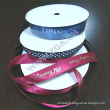 Satin Ribbon with gold ,silver words or art etc