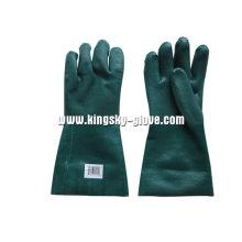 Sandy Finish Guantlet Manschette Grün PVC Handschuh-5125. Gn