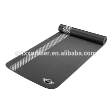 super quality black rubber yoga mat with print logo