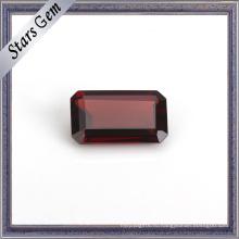 Восьмиугольник огранки Изумруд натуральный гранат драгоценный камень для подарка