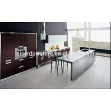 Armário de cozinha de folheado de madeira natural de design italiano moderno Popular para o mercado do Canadá