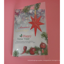 custom printing plastic greeting cards (festival card)