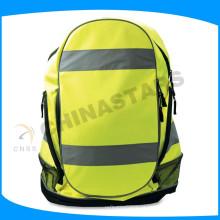 Amarelo Reflective Bag Pack com fita reflexiva