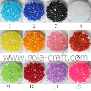 Fashion Ball Round Resin Cat`s Eye Jewelry Spacer Beads with Mixed Colors 6MM 500pcs