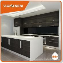 Calidad garantizada gabinete de cocina moderna chapa de madera