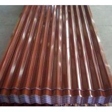 Folha galvanizada da telhadura do ferro ondulado da cor de Terrocotta