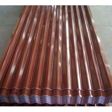 Matériau de toiture de tuile de toiture en acier ondulé de Terrocotta PPGI