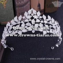 Crystal Flower Shaped Wedding Tiaras