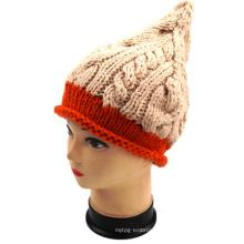 Fashion Design Handmade Knit Cone Pattern Winter Warm Hat Beanie