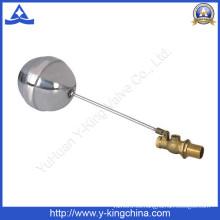 Válvula de flotador de tanque de bronce de bronce (YD-3013)