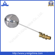 Латунный поплавковый шаровой кран с шариком из нержавеющей стали (YD-3013)