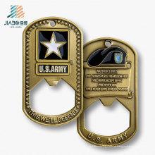 O melhor abridor de garrafa feito sob encomenda do metal da etiqueta do presente relativo à promoção da venda para nós lembrança do exército