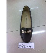 Classic Comfort Lady Shoes avec semelle Flat TPR (SNL-10-013)