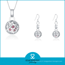 Boucle d'oreille de mode argent et bijoux de collier pour la dame (J-0167)
