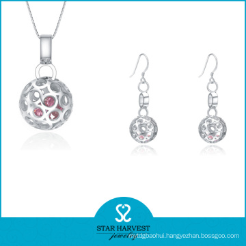 Wholesale Pink CZ Fashion 925 Jewelry (J-0167)