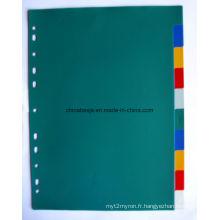 10 pages couleur PP Index diviseur sans numéro imprimé (BJ-9022), fabricant chinois de diviseur de l'Index, Chine usine du séparateur de l'Index.