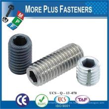 Fabricado en Taiwán ISO 4026 ANSI B18 3 6M DIN913 Juego de tornillos hexagonales Tornillo plano