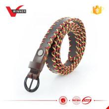 Factory design vintage skinny leather belt