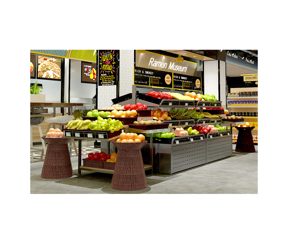 Groenten en fruit display-apparatuur