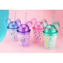 Fesyen Double Wall Cold Drink Juice Cup