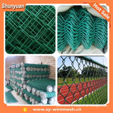 Low price PVC coated and galvanized chain link fencing