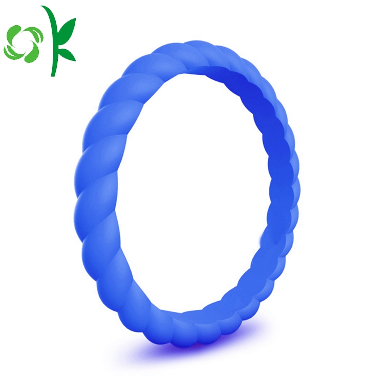 Twist Shape Silicone Ring