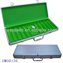 New arrival 500 aluminum poker chip case
