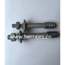 Kurze Shank Pins, Bolt End Insulator Pins, Crossarm Isolator Pins, Overhead Line Lösungen