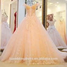 LS22019 sweetheart neckline drop back straps crossover pleated corset bodice luxury bridal dress sleeveless wedding dress