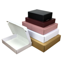 Custom Printed Cardboard Mail Packaging Shipping Box White Black Pink Mailer Box