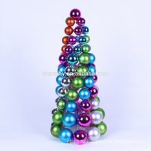 Elegant Plastic Christmas Table Ball Tree Decorative