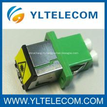 Длинные фланец FTTH LC волоконно оптический адаптер DX с металла пыли крышка съемная затвора