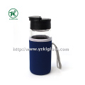 Glass Bottle with Neoprene Fabrication Oversleeve PP Lid