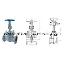 Válvula de compuerta de vástago ascendente de acero fundido DIN F5
