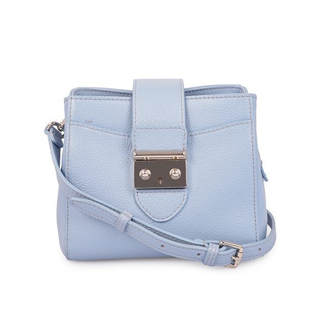 Blue Simple Girls Cute Real Leather Shoulder Crossbody Bag