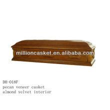 pecan wooden veneer casket