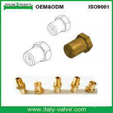 Brass Ferrule Nut/Female Connector (IC-9090)