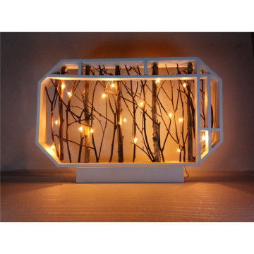 Rama de árbol de luz LED Decoraiton de pie