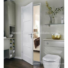White color simple design bathroom shaker 4 panel wooden doors with private lockset