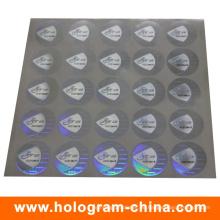 Sicherheit 3D Laser Black Seriennummer Hologramm Aufkleber