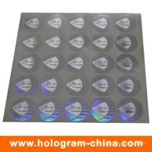 Etiqueta do holograma do número de série do preto da matriz do PONTO do laser 3D